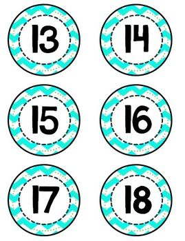 Fun chevron numbers for the classroom (1-36).  Great for calendars, coat racks, math boggle and so much more.
