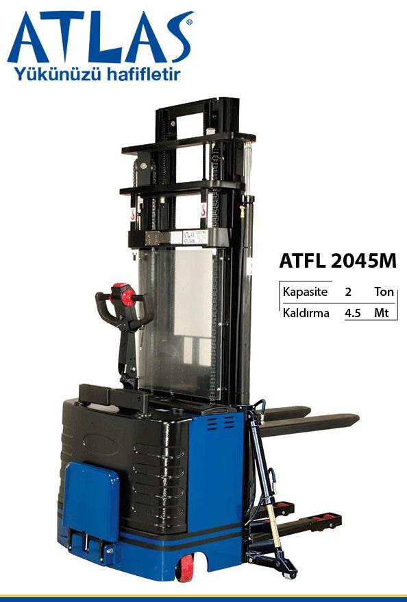Atlas tam akülü istif makinası ATFL 2045M en yüksek seviye yük taşıma aracıdır. Akülü istif makinası hücre akü sistemi ile çalışan ekonomik istif aracıdır. Elektrikli-akülü istif makinası 2 ton taşıma,  4.5 metre kaldırma kapasitelidir. Yan destek kolları sayesinde akülü istif makinası güvenli istifleme yapmaktadır. http://www.ozkardeslermakina.com/urun/tam-akulu-istif-makinasi-atlas-atfl-2045/ #atlas #istifmakinesi #forklift #elektrikliforklift #akuluforklift