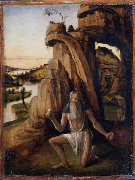 Alvise Vivarini - San Girolamo penitente - 1475 circa - percorso  Santi - Accademia Carrara di Bergamo Pinacoteca
