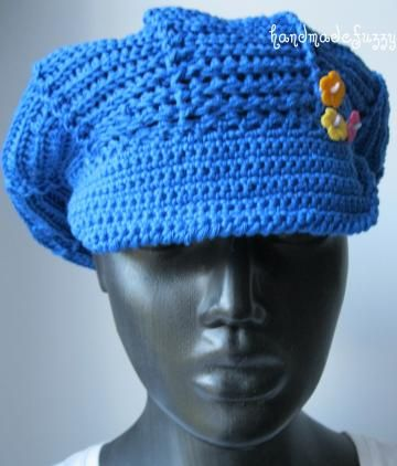 #FlashAttack - blue fun crochet newsboy cap by #handmadefuzzy for $20.00