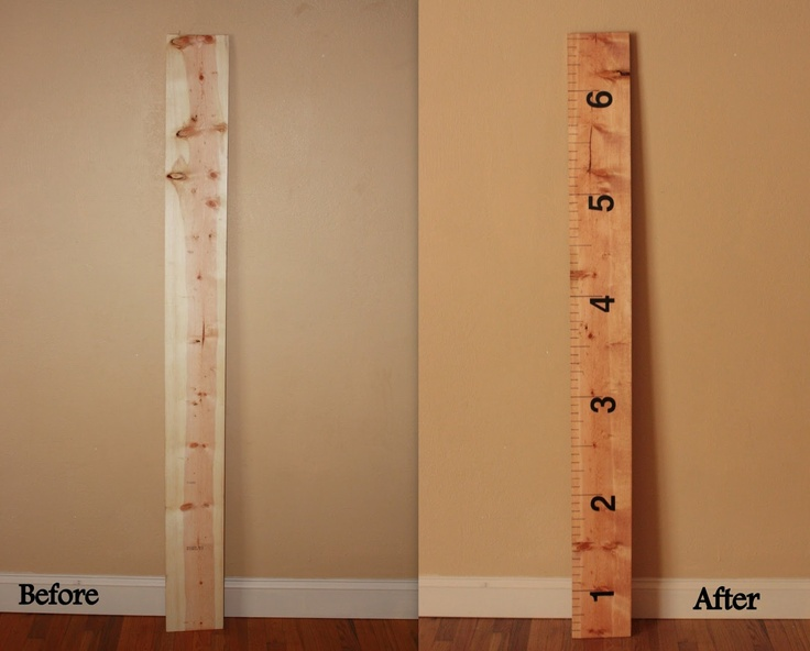 Cute Diy Growth Chart You Could Even Use A Wood Burning