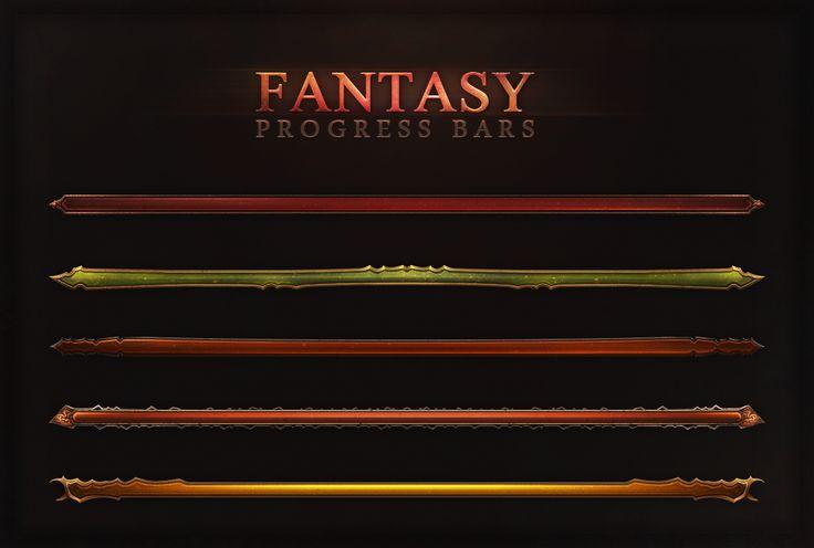 Fantasy Progress Bars by Evil-S on deviantART