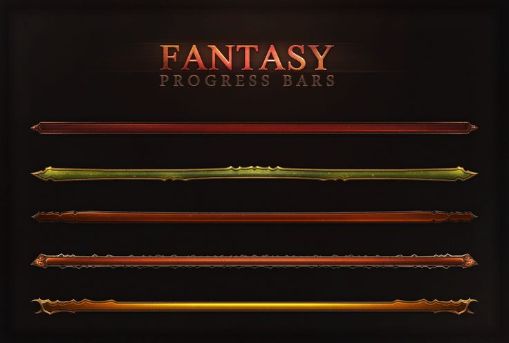 Fantasy Progress Bars by Evil-S on deviantART