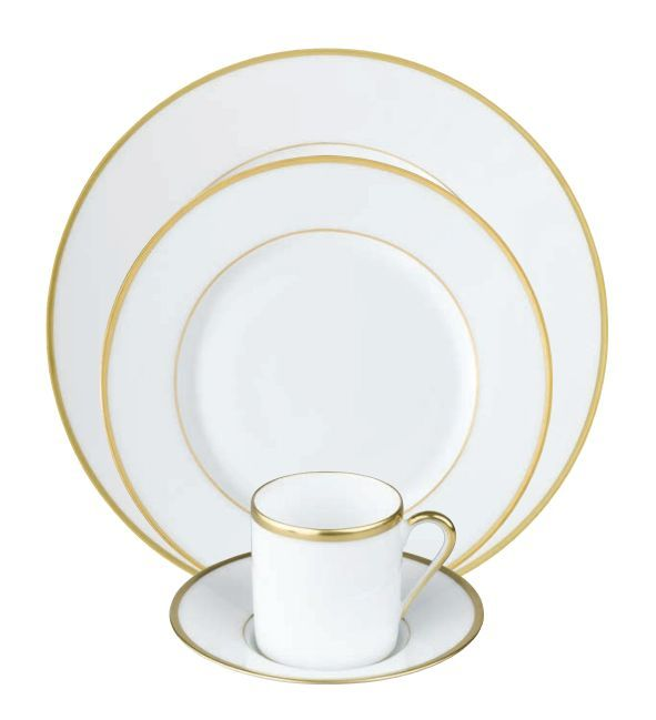 #Raynaud - Limoges #porcelain - Fontainebleau collection. Gold or platinium filet