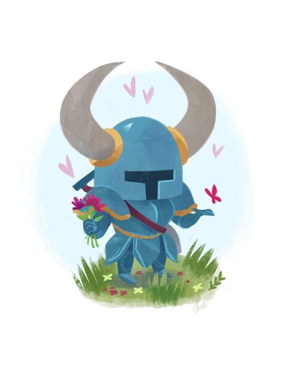 Shovel Knight Art Print  8.5 x 11 by tinysnails on Etsy
