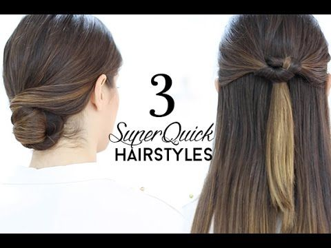 ♥ ♥ READ ME / EXPLANATIONS ♥ ♥ SUPERQUICK HAIRSTYLES TUTORIAL Today I'm going to show you three different hairstyles that you can do super quick. You will on...