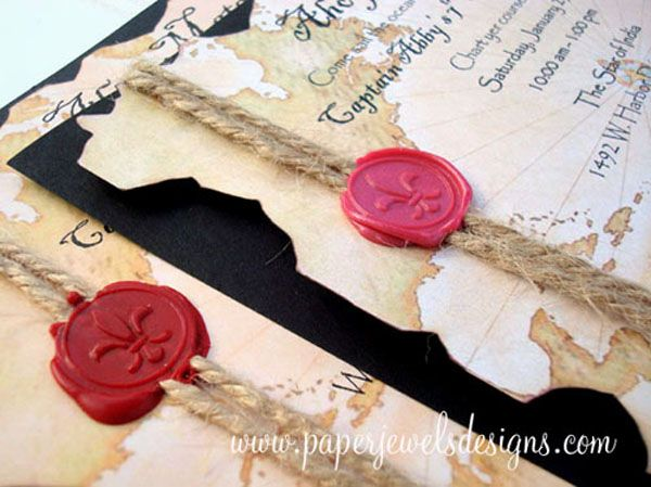 """Ahoy Matey"" Pirate Treasure Map"
