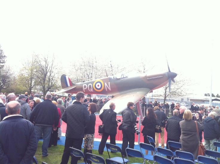 Spitfire memorial in Grangemouth
