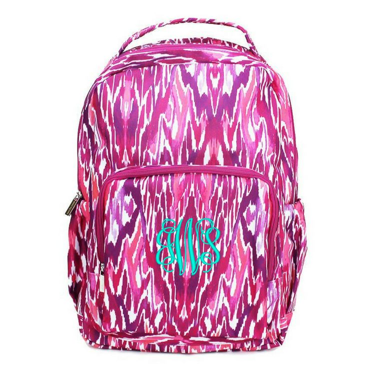 Personalized Backpack For Kids Fun Patterns Floral Paisley Ikat Damask