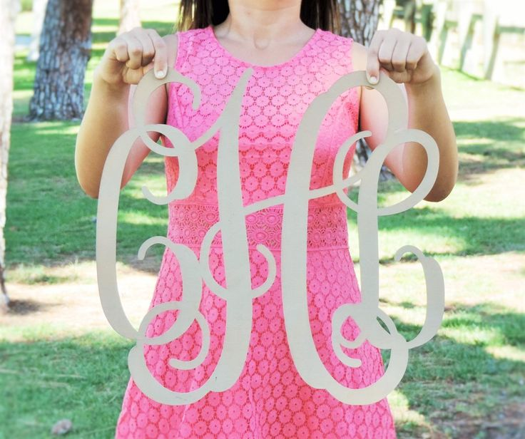 Painted Huge Rustic Chic Monogram! | Shop handmade and boutique deals up to 80% off on Jane.com!