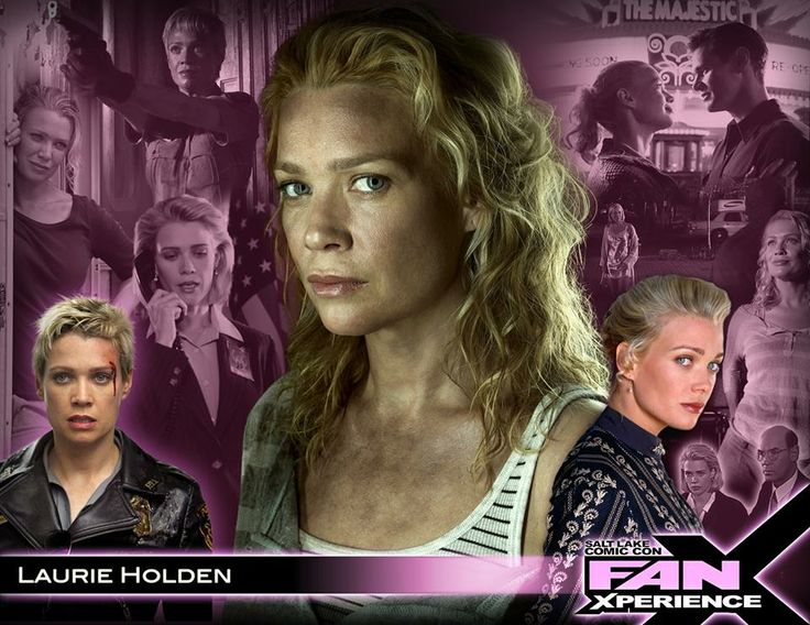 Please welcome Laurie Holden to 2014 Salt Lake Comic Con #FanX! Laurie is best known for her roles as Andrea in AMC's hit television series #TheWalkingDead, Agent Mulder's mysterious informant Marita Covarrubias in The #XFiles, and Olivia Murray in The Shield. She has also starred in many feature films, including Fantastic Four, Silent Hill, Bailey's Billion$ and upcoming comedy sequel Dumb and Dumber 2.