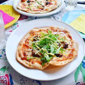♪ whole grain input crispy pizza dough at HB maximum amount