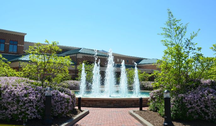 Fountains outside the Exhibit Hall at the St. Charles Convention Center.  #Events