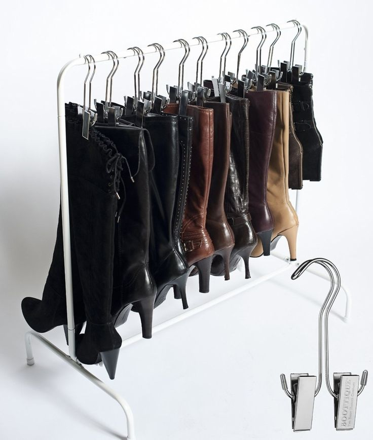 The boot rack fits in most closets and can comfortably contain up to 10 pairs of boots. A perfect solution to store and organize boots. Price: $39.95. Find it here