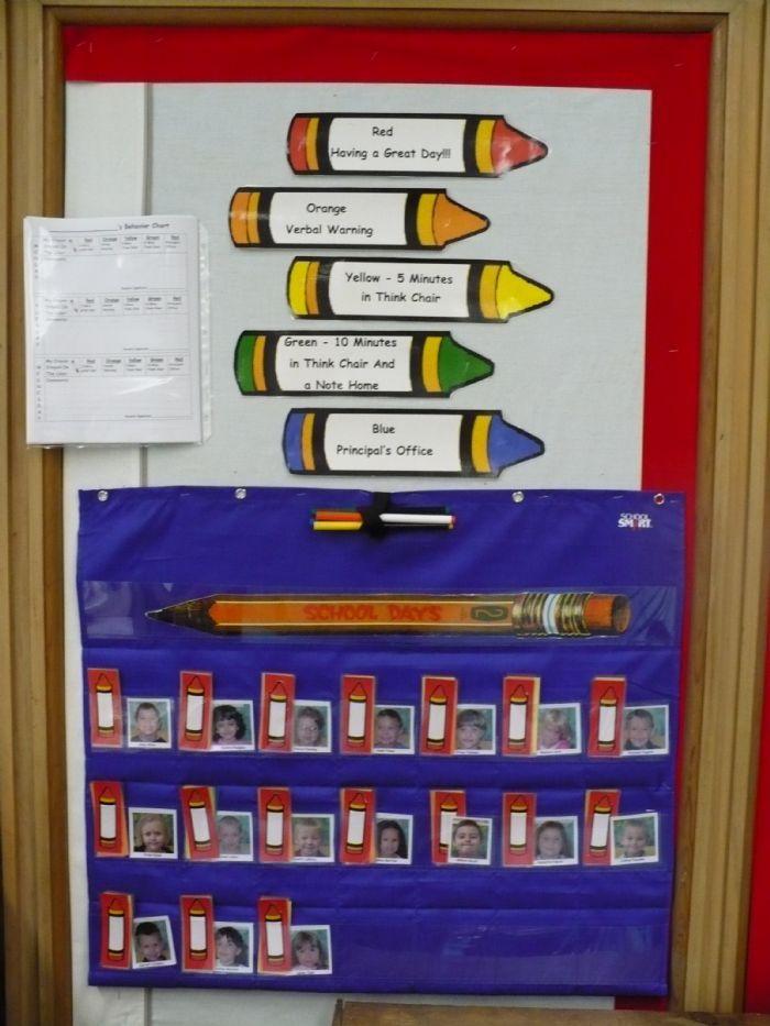 Classroom Discipline Ideas ~ Best kindergarten behavior charts ideas on pinterest