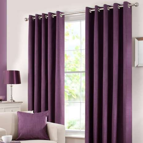 Refresh the look of your room with these aubergine purple curtains, featuring an easy to install eyelet header and efficient blackout lining to reduce unwanted ...