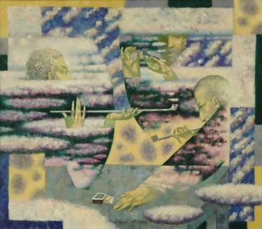 "Pavel Antipov; Drawing, ""3 philosophers"" #art"
