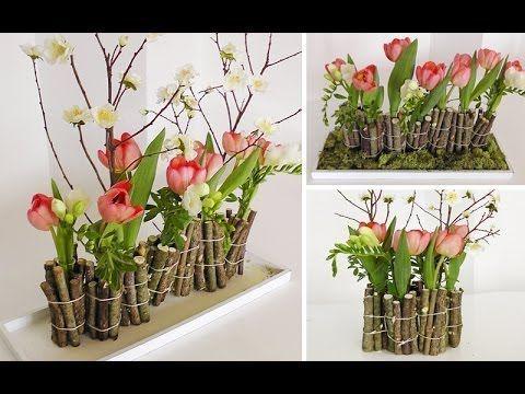 ▶ DIY: Ausgefallene Blumendeko mit Holz selber machen   Deko Kitchen - YouTube