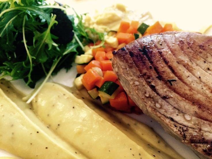 Mi-cuit tuna and its Kumara purée ! @ Le Chef Auckland