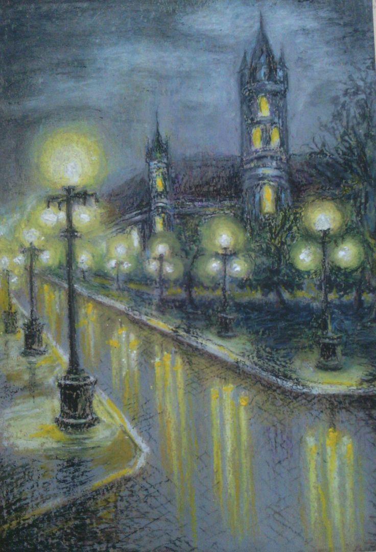 Original watercolor art for sale - Painting Landscape Original Philosophy Oil Pastel By Svetlanamatevosjan