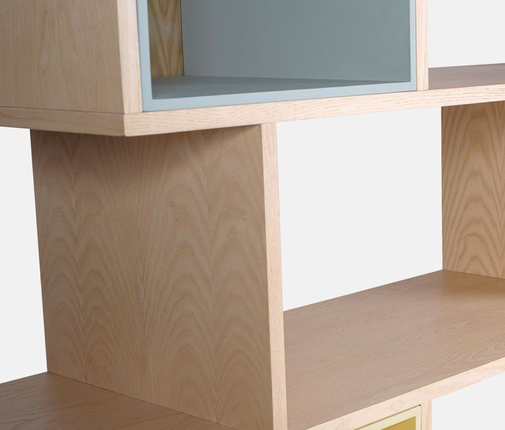 Shelving unit, mid-century style in ash