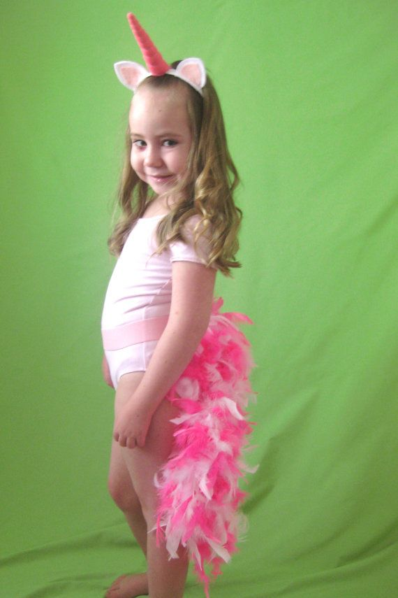Unicorn Tail  tie on or elastic waist by PlaytimeProps on Etsy