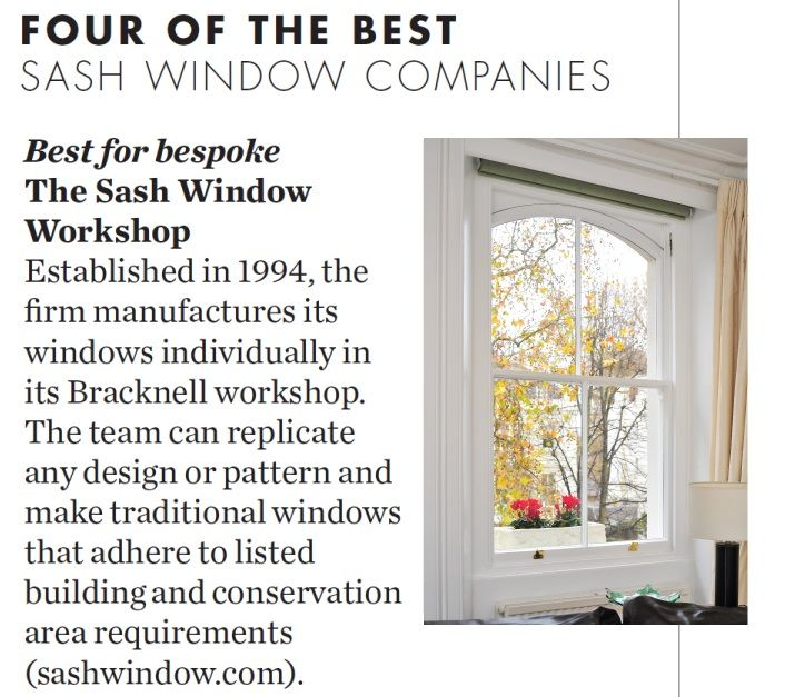 We were listed as the best for bespoke sash windows in Elle Decoration  http://www.sashwindow.com/products/sash-windows