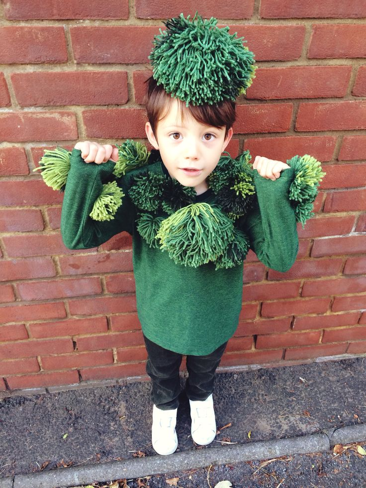 Broccoli costume.                                                                                                                                                                                 More