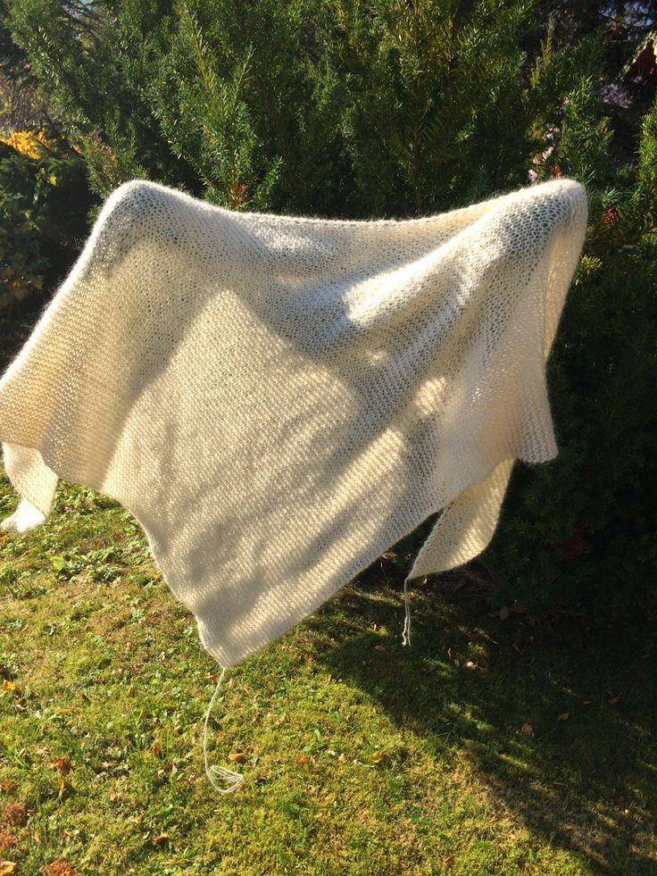 Christel's hobbykrok: Strikket sjal!