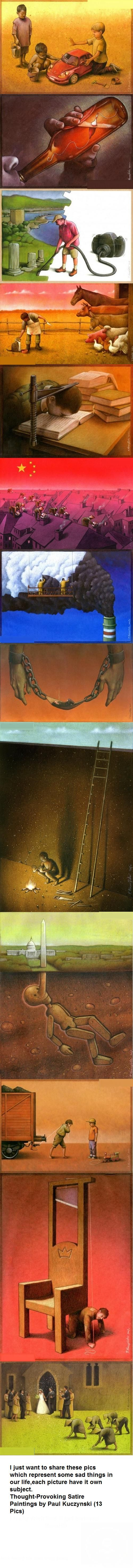 Thought-provoking art by Paul Kuczynski