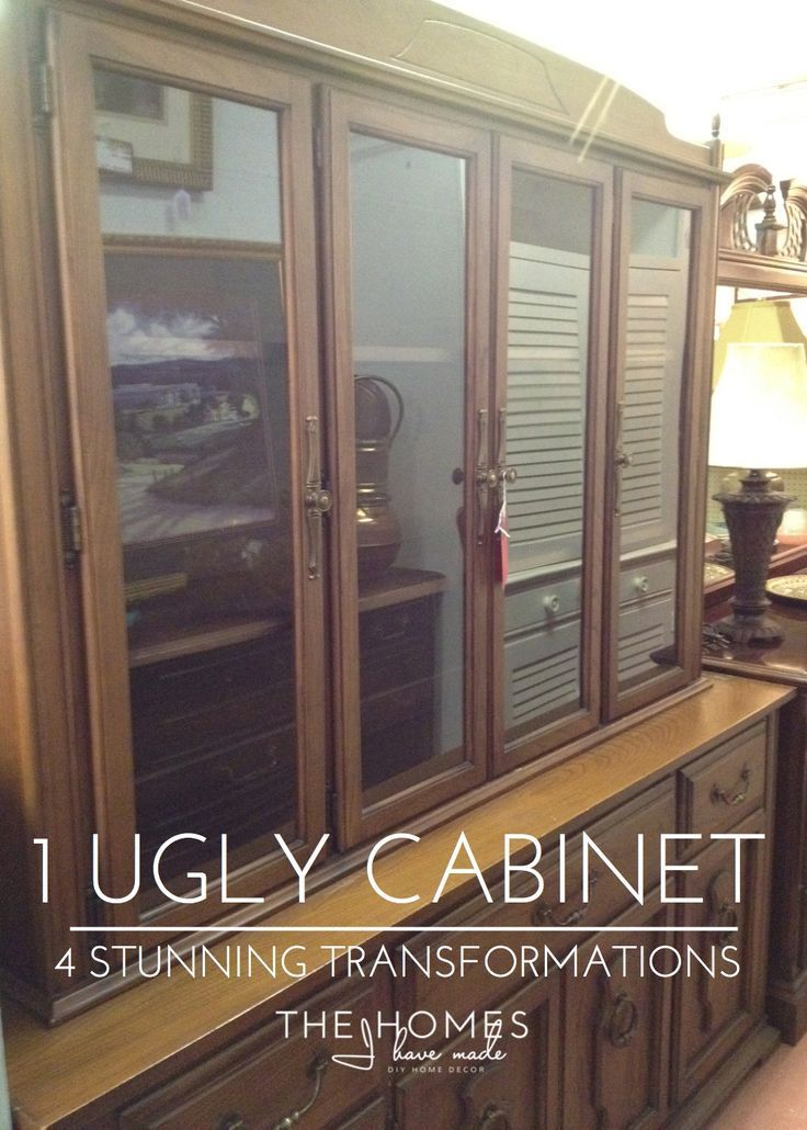 1 Ugly Cabinet U003d 4 Stunning Transformations