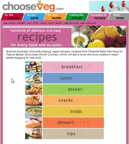 7 vegetarian recipe sites since I think I'm going back to being a vegetarian now that I have more time