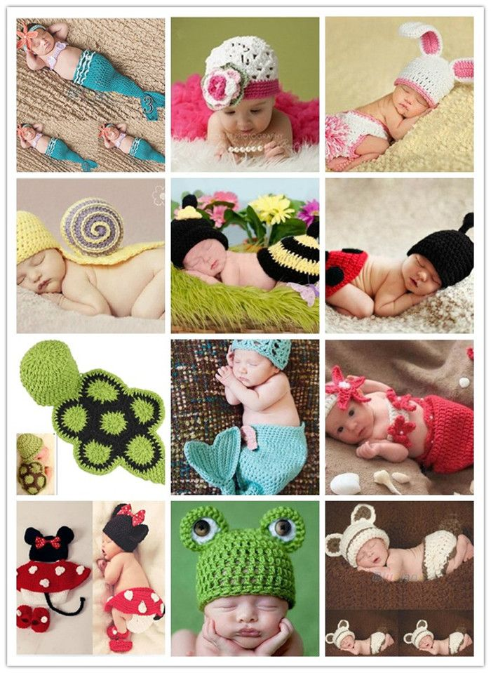 Free shipping Wholesale Factory Princess Baby Animal Costume Sale Handmade Children Knit Crochet Photography Props hats Newborn-in Hats & Caps from Mother & Kids on Aliexpress.com | Alibaba Group