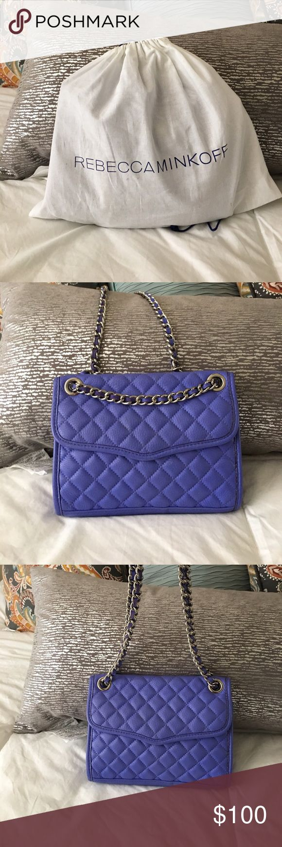 Rebecca Minkoff purse Excellent used condition! Beautiful bluish/purple for summer nights out. Wear it long across your body or on your wrist/shoulder. Rebecca Minkoff Bags Crossbody Bags