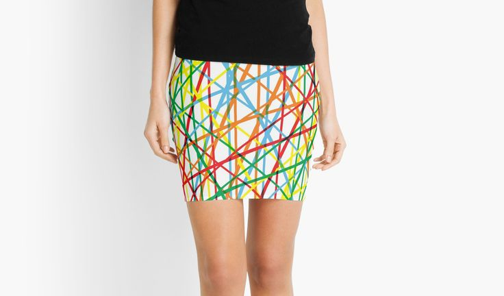 20% off all apparel. Give the gift of original stuff. Use code DAYEIGHT. Dancing Colors - colorful Mini skirt by emilypigou. #colorful #abstract #miniskirt #skirt #style #fashion #sales #discount #save #redbubble #gifts #lines #modern #family #online #shopping #giftsforher #xmasgifts #modernskirt  #dance #music #christmasgifts #39 #shop • Also buy this artwork on home decor, apparel, stickers, and more.  More like this
