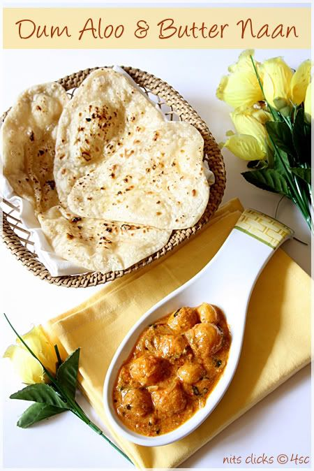 "Dum Aloo Recipe  Ingredients:  Baby potatoes - 1/4 kg Almonds - 5 Onion - 2 Tomato - 2 Curd - 1 cup Ginger - 2"" piece Garlic - 5 pods Dry red chillies - 4 Cloves - 3 Cardamom - 2 Cinnamon - 1"" stick Cumin seeds - 1 tsp Turmeric powder - 1/2 tsp Garam masala - 1 tsp Kasoori methi - 1 tsp Sugar - 1 tsp Coriander leaves  Salt - for taste Oil - for frying"