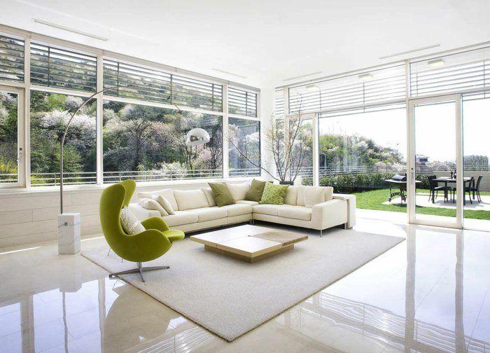 Fliesen farbe wohnzimmer gestalten gro e bodenfliesen elegant wohnung pinterest - Boden flussigkunststoff auf fliesen ...