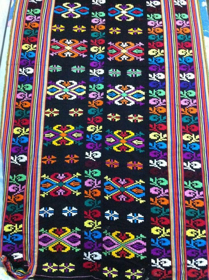 NTT Traditional Ikat Weaving Black Combined Krawang Timor Motif's