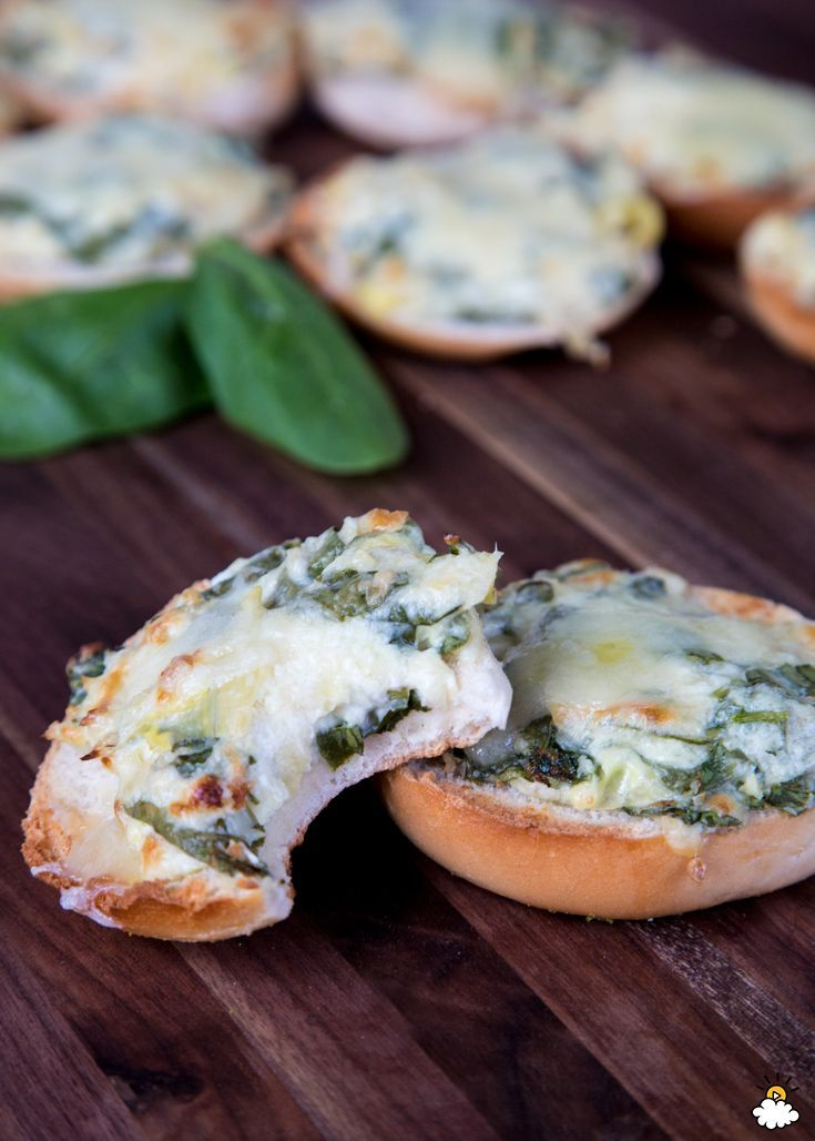 Spinach Artichoke Bagel Melts give new meaning to a classic dip.