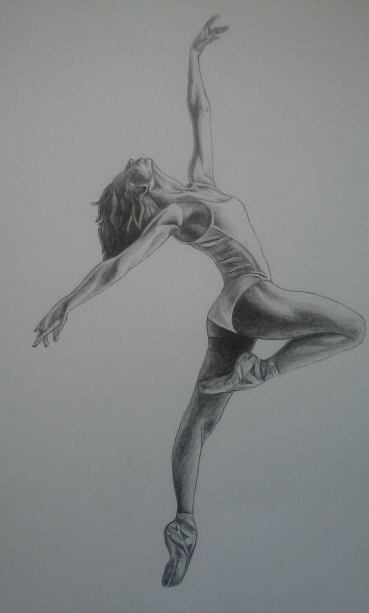 detailed dancer, in grafite