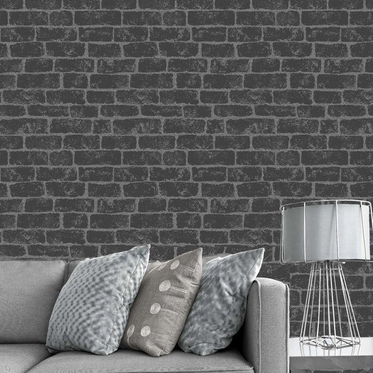 Fine Decor Glitter Brick Wallpaper- Black FD40878 - http://godecorating.co.uk/fine-decor-glitter-brick-wallpaper-black-fd40878/