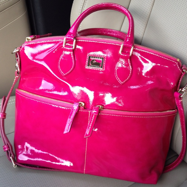 my new dooney bourke bag in a fuchsia color pink everything pinterest pink colors. Black Bedroom Furniture Sets. Home Design Ideas