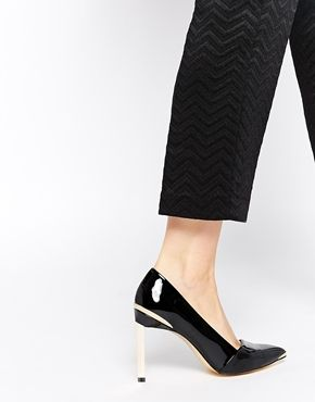 Ted Baker Naretta Black Patent Heeled Shoes