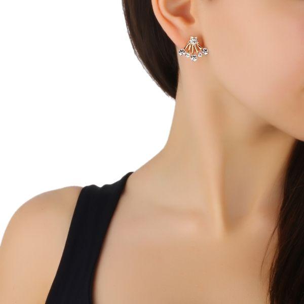 Taşlı Tek Çiçek Detay Küpe #küpe #çiçekküpe #taşlıkupe #zirkonküpe #moda #kadın #aksesuar #zarafet #fashion #earring #woman #accessory #elegant #style #stil #elegant