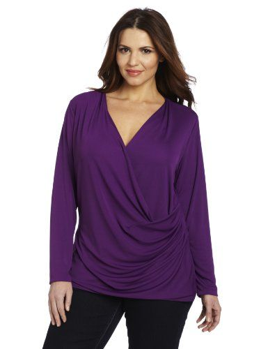 Anne Klein Women's Plus-Size Wrap Front Top - http://clothing.wadulifashions.com/anne-klein-womens-plus-size-wrap-front-top/