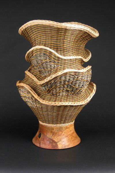 """Large Babble: 32"""" tall by 20"""" diameter, $2,600.00 #handwoven #wovenbasket"""