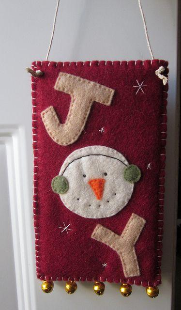 'Joy' Door Hanger by LookHappyShop, via Flickr