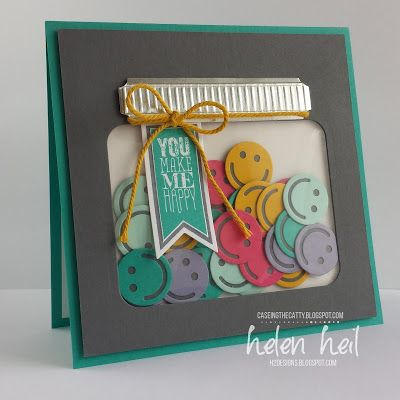 H2 Designs: CTC76 - Smiley Shaker using Project Life Cards & Labels Framelits & Project Life Paper Clips Thinlits