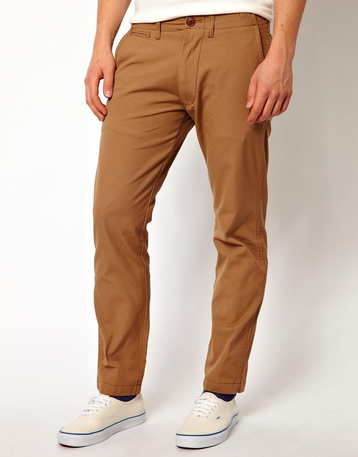 $82, Tobacco Chinos: Chocoolate Black Chinos. Sold by Asos. Click for more info: http://lookastic.com/men/shop_items/106002/redirect