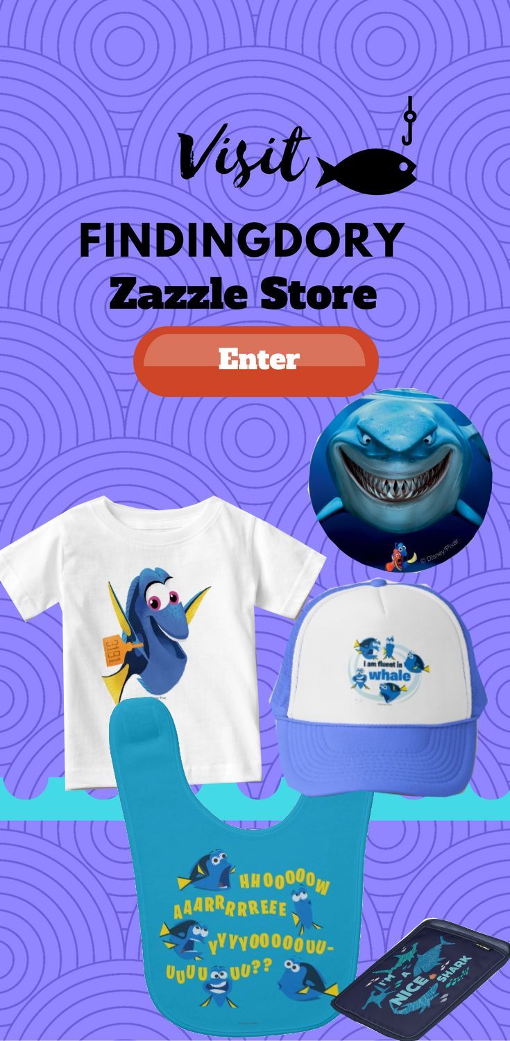 Visit Disneys Pixar Findingdory Zazzle store for many different and unique Finding Dory design on many different Product. Find the design on product like pillow, t-shirt, keychain, iphone case, Samsung case, cups, wallets and more.